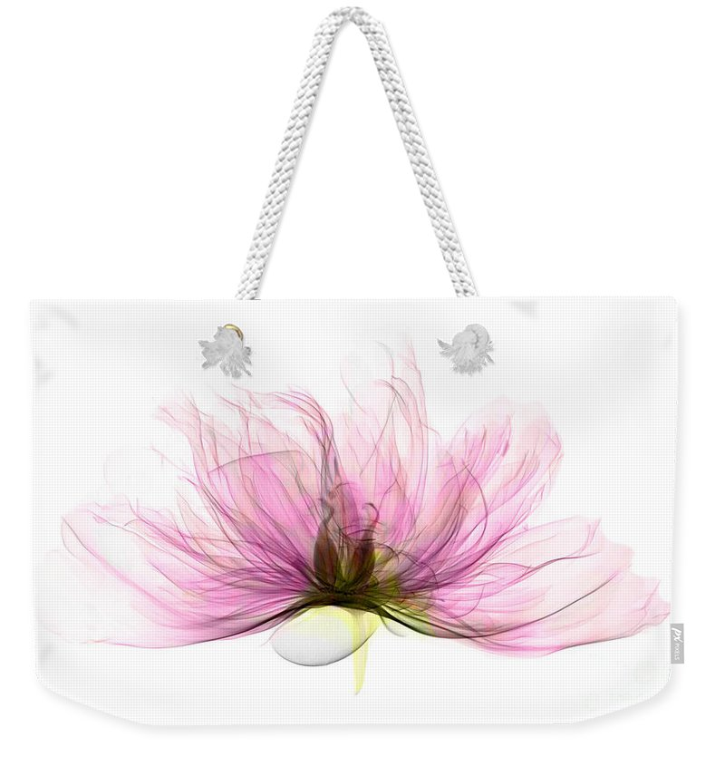 Xray Weekender Tote Bag featuring the photograph X-ray Of Peony Flower by Ted Kinsman