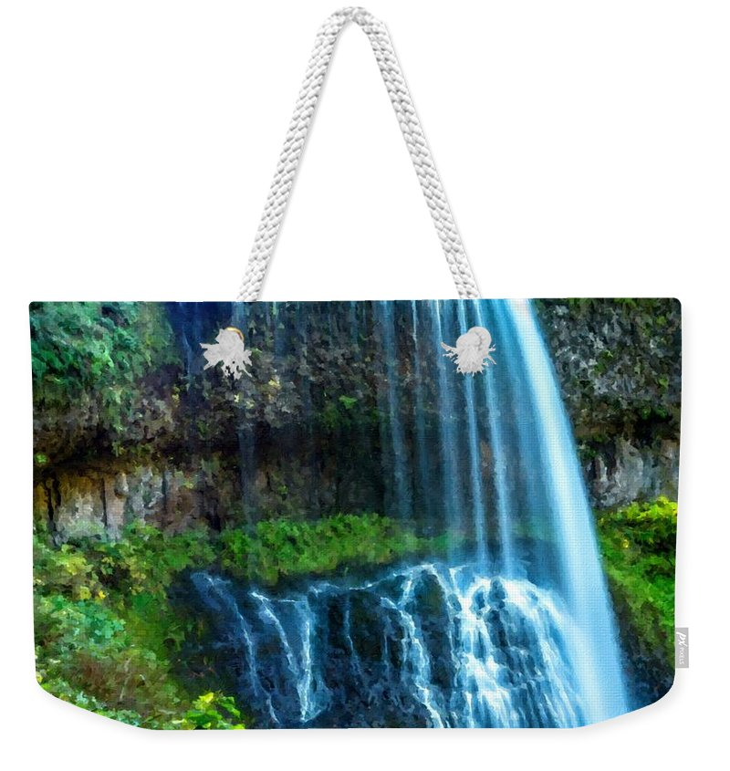 Landscape Weekender Tote Bag featuring the digital art Large Landscape by Usa Map