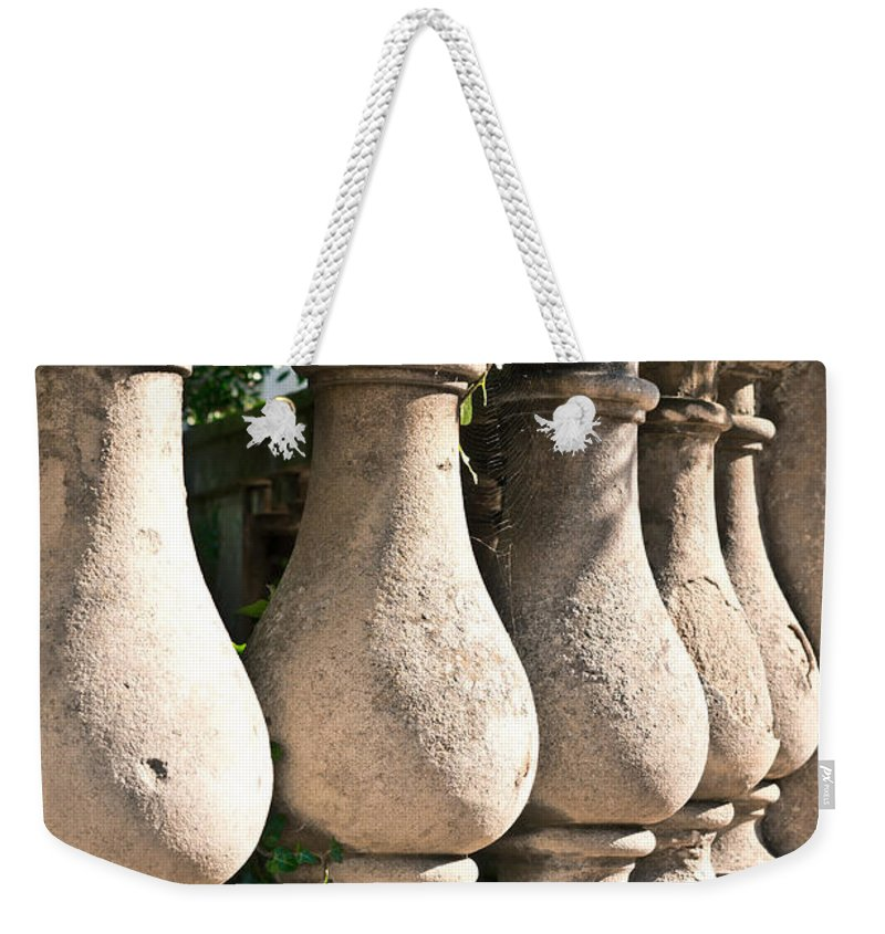 Antique Weekender Tote Bag featuring the photograph Stone Wall by Tom Gowanlock