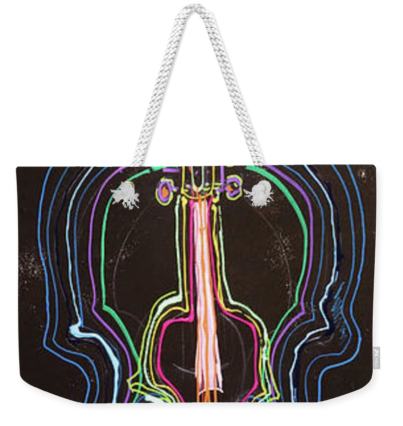 Weekender Tote Bag featuring the painting 32 by Ferboligali