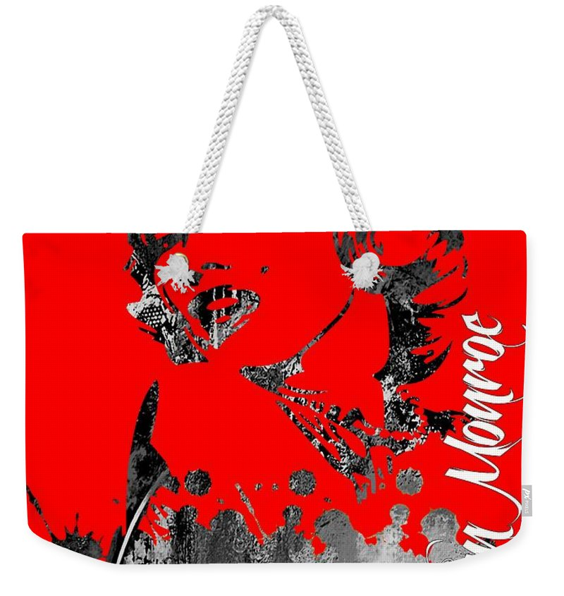 Marilyn Monroe Weekender Tote Bag featuring the mixed media Marilyn Monroe Collection by Marvin Blaine