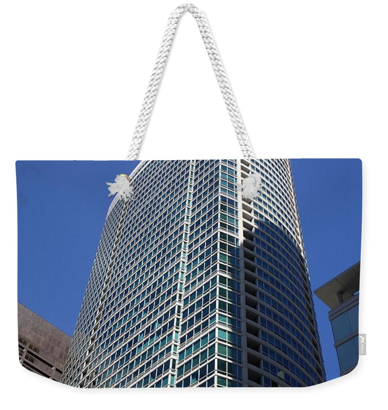 America Weekender Tote Bag featuring the photograph Chicago Skyscrapers by Frank Romeo