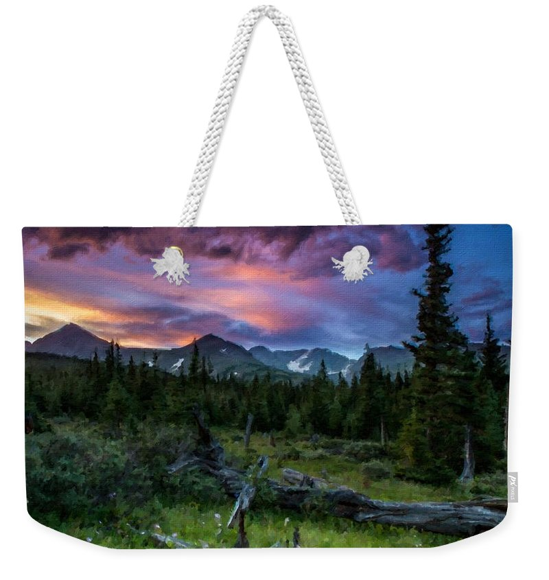 Nature Weekender Tote Bag featuring the digital art Cool Landscape by Usa Map