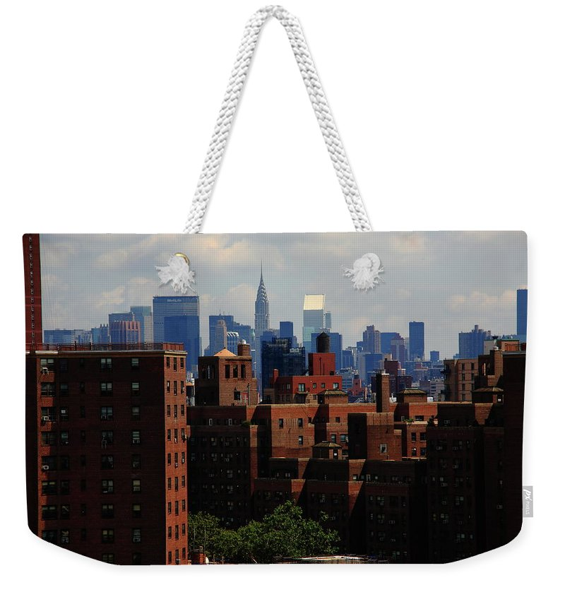 Apartments Weekender Tote Bag featuring the photograph New York City Skyline 3 by Frank Romeo