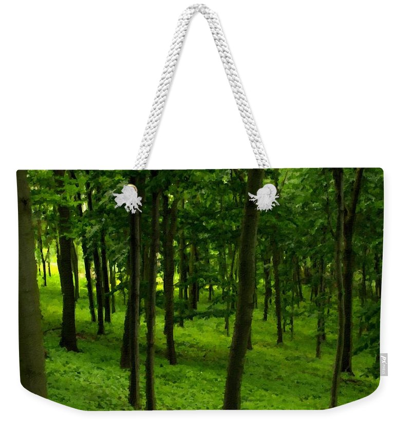 Paint Weekender Tote Bag featuring the digital art Nurture Nature by Usa Map