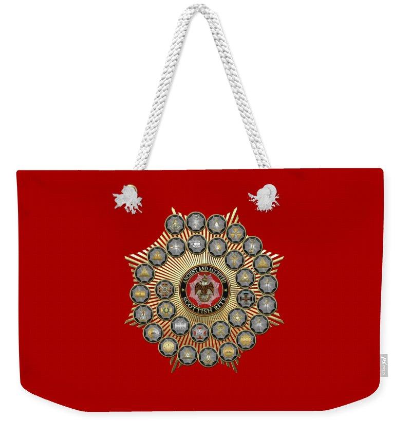 Masonic Insignia Weekender Tote Bags