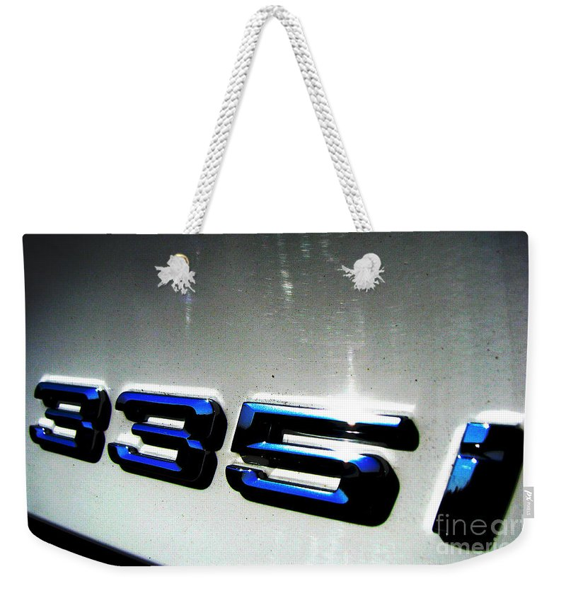 335i Weekender Tote Bag featuring the photograph 335i by Amanda Barcon