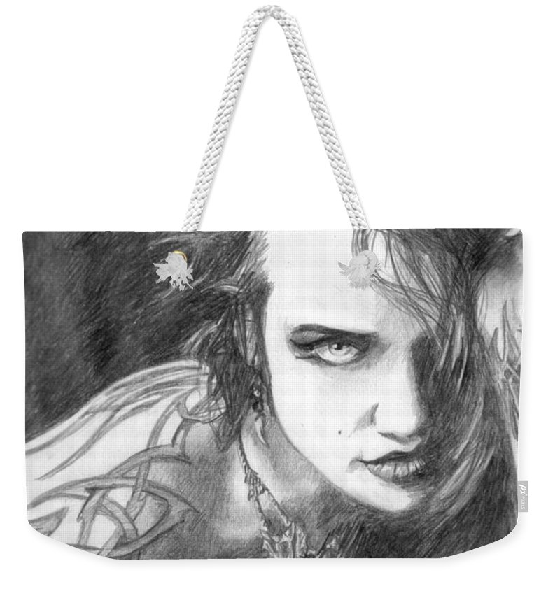 Tattoo Weekender Tote Bag featuring the drawing 34 by Kristopher VonKaufman