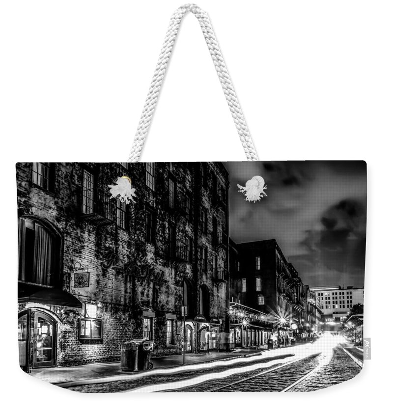 Ferry Weekender Tote Bag featuring the photograph Savannah Georgia Waterfront And Street Scenes by Alex Grichenko