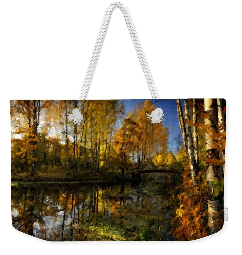 Oil Weekender Tote Bag featuring the digital art Cool Landscape by Usa Map