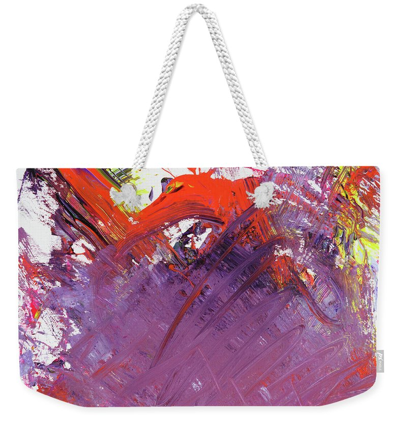 Weekender Tote Bag featuring the painting 35 by Ferboligali