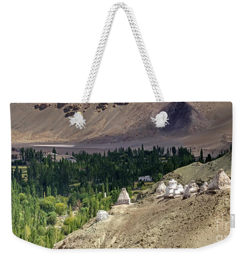 Ladakh Weekender Tote Bag featuring the photograph Landscape Of Ladakh Jammu And Kashmir India by Rudra Narayan Mitra