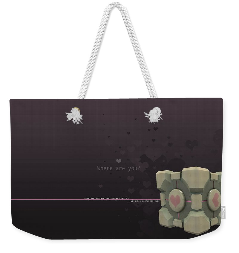 Portal Weekender Tote Bag featuring the digital art Portal by Mery Moon