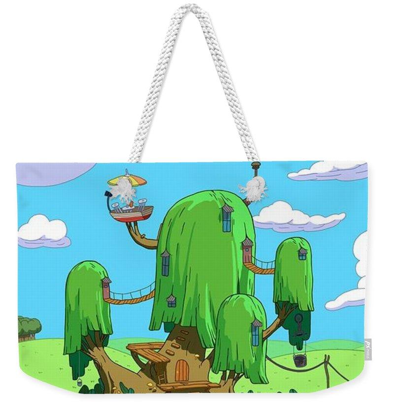 66 Adventure Time Weekender Tote Bag featuring the digital art 35666 Adventure Time by Mery Moon