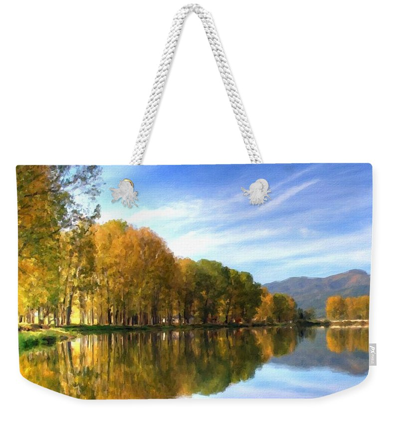Landscaped Weekender Tote Bag featuring the digital art S Landscape by Usa Map