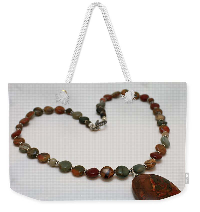 Original Weekender Tote Bag featuring the jewelry 3600 Picasso Jasper Necklace by Teresa Mucha