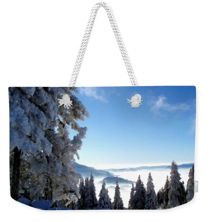 Landscape Weekender Tote Bag featuring the digital art Picture Of Landscape by Usa Map