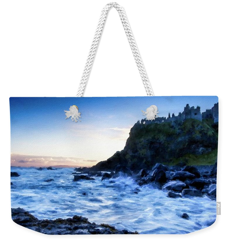 Painted Weekender Tote Bag featuring the digital art Landscape Show by Usa Map