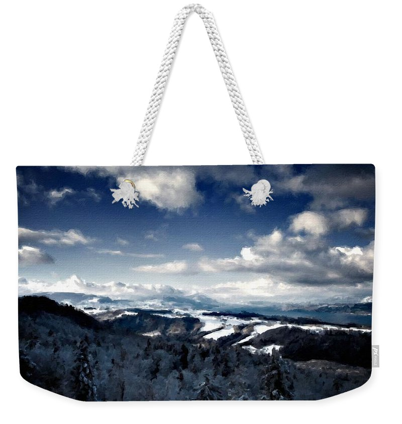 Native Weekender Tote Bag featuring the digital art C L Landscape by Usa Map