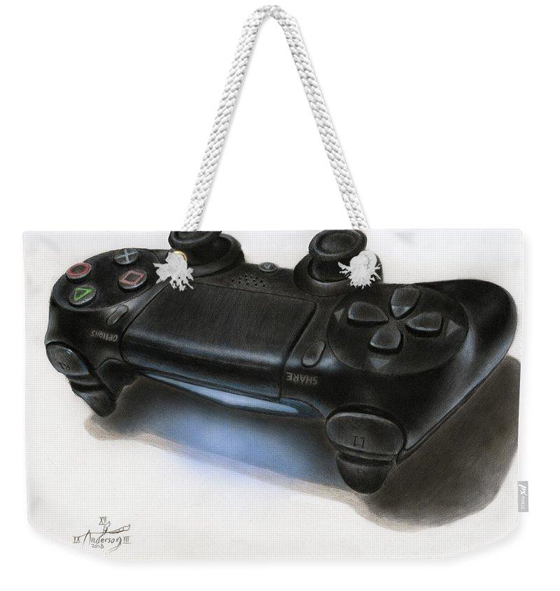3d Ps4 Controller Drawing Weekender Tote Bag