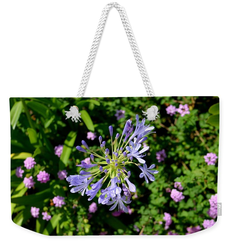 Weekender Tote Bag featuring the photograph 3dblue by Jane Merrit