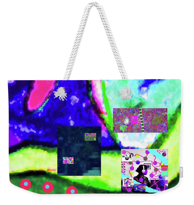 Walter Paul Bebirian Weekender Tote Bag featuring the digital art 4-22-2015da by Walter Paul Bebirian