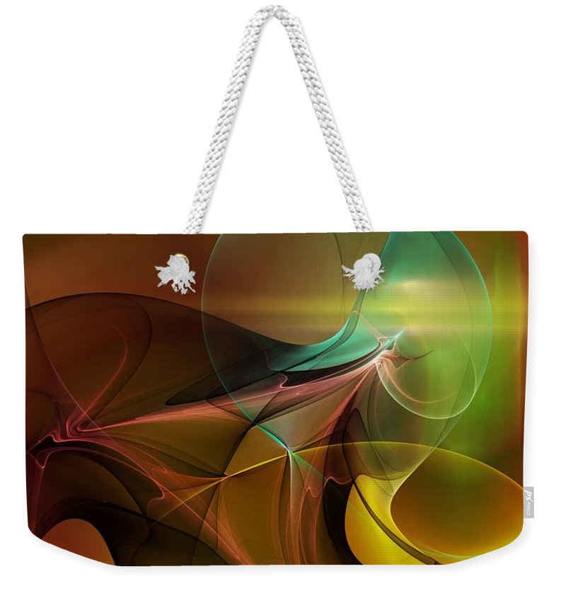 Digital Painting Weekender Tote Bag featuring the digital art 4-3-10aa by David Lane