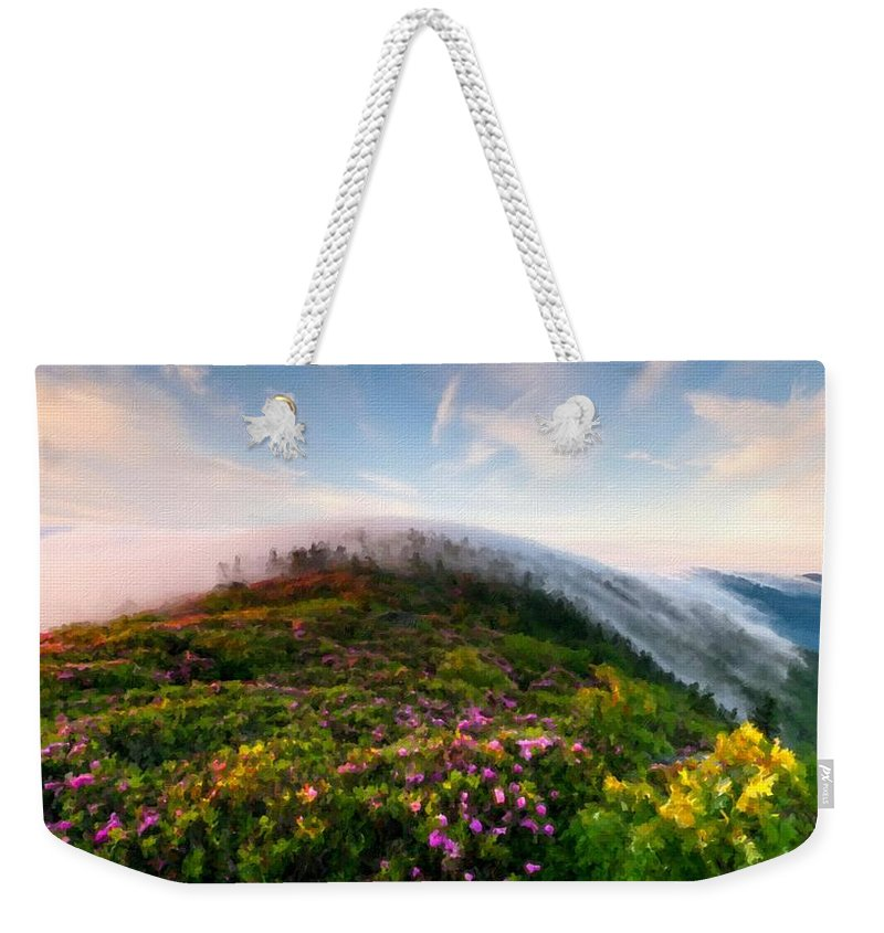 T Weekender Tote Bag featuring the digital art Acrylic Landscape by Usa Map