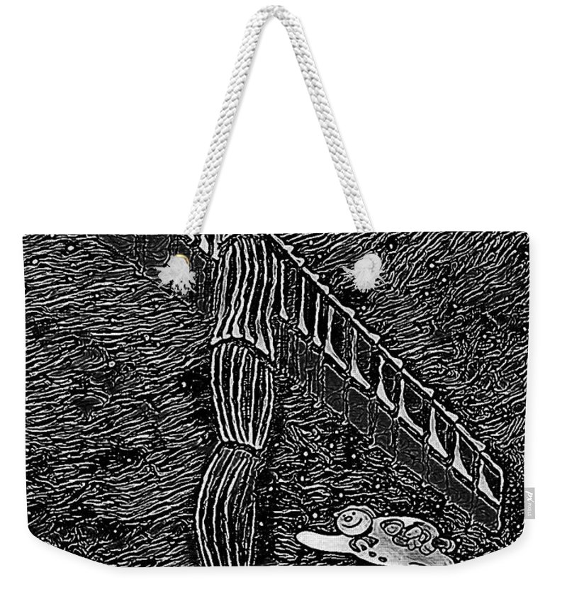 Angel Christmas Weekender Tote Bag featuring the painting Angel Of The North by Neal Crossan