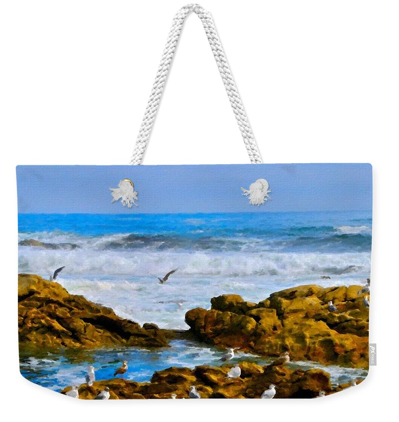Painted Weekender Tote Bag featuring the digital art Art Of Landscape by Usa Map