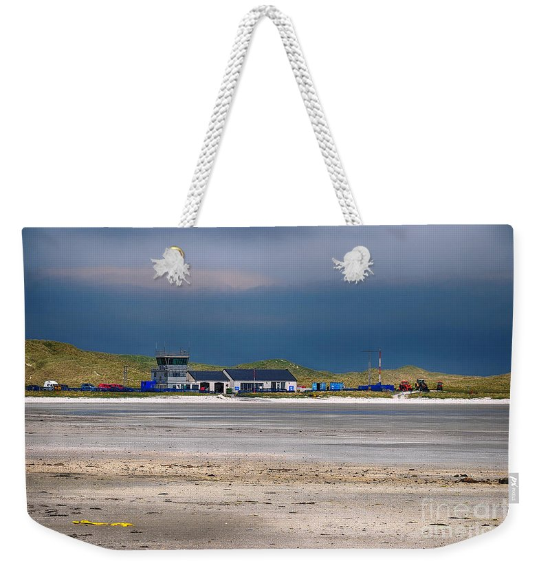 Barra Weekender Tote Bag featuring the photograph Barra Airport by Smart Aviation