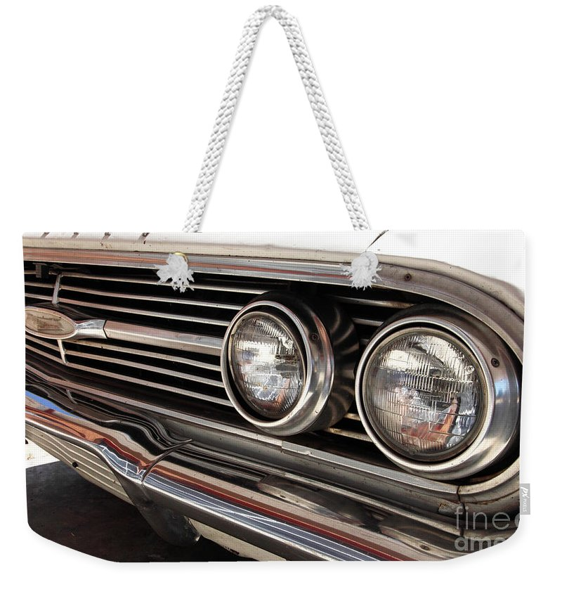 Cars Weekender Tote Bag featuring the photograph Biscayne by Amanda Barcon