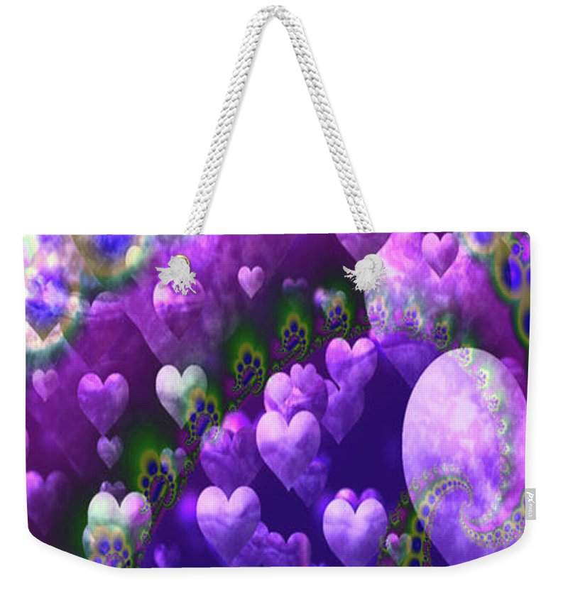 Greeting Cards Weekender Tote Bag featuring the digital art Boundless Love by Mitchell Watrous