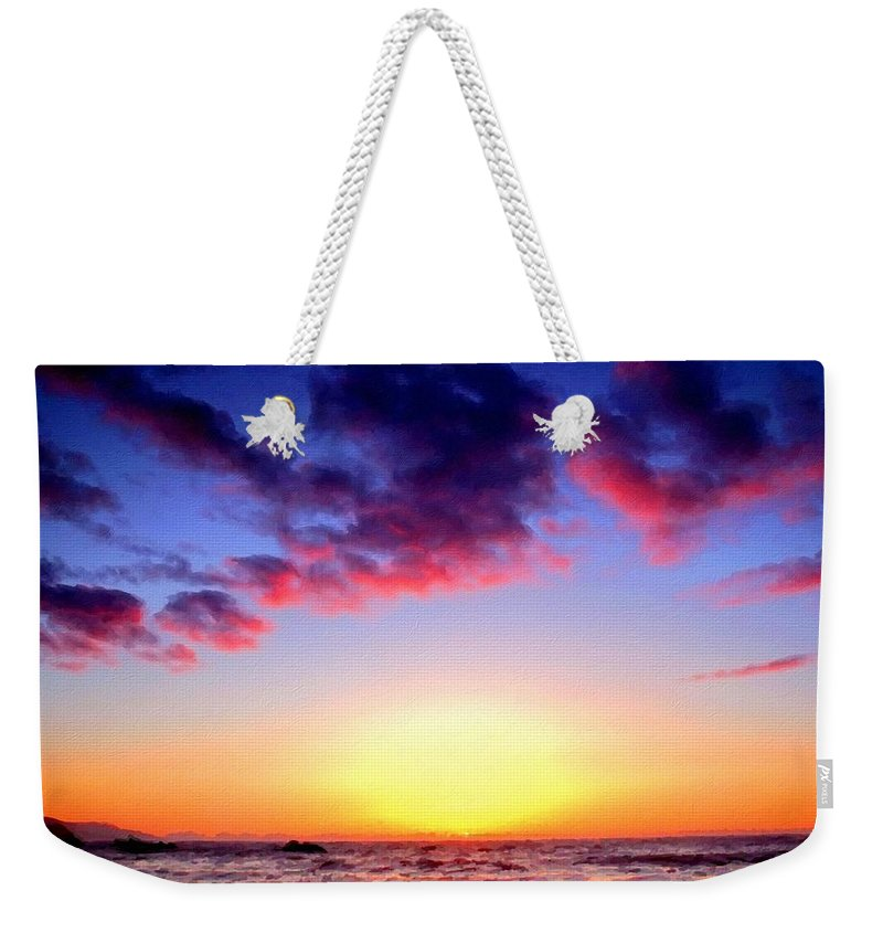 J Weekender Tote Bag featuring the digital art Br D Landscape by Usa Map