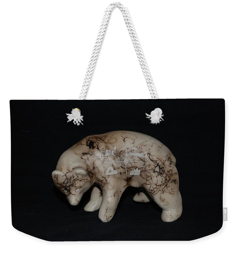 Four Corners Weekender Tote Bag featuring the photograph 4 Corners Bear by Rob Hans