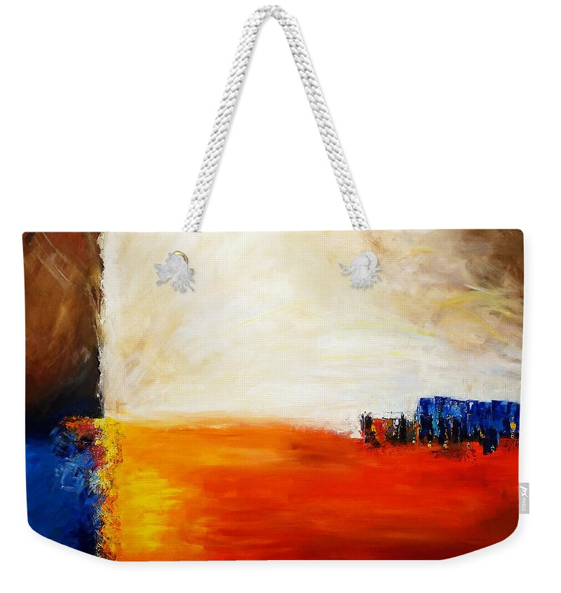 Acrylic Weekender Tote Bag featuring the painting 4 Corners Landscape by Gallery Messina