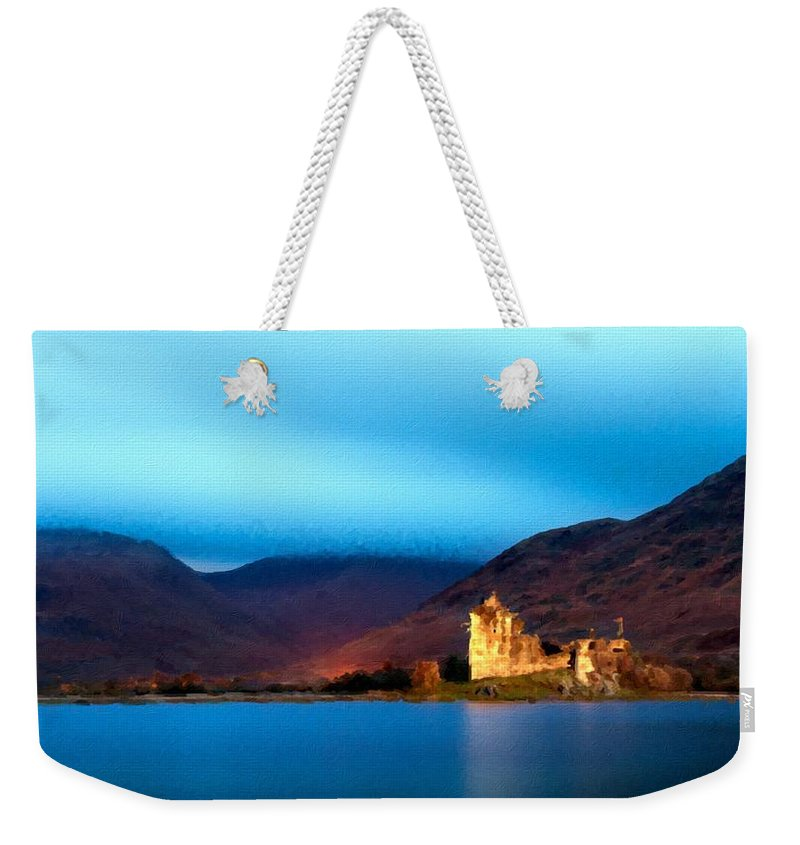 Set Weekender Tote Bag featuring the digital art Drawings Landscapes by Usa Map
