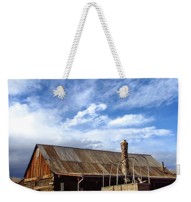 4 Eagle Ranch Weekender Tote Bag featuring the photograph 4 Eagle Ranch by LeAnne Perry