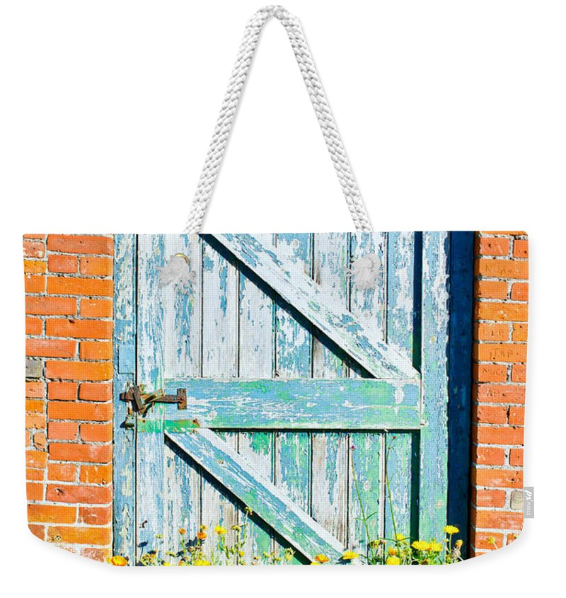 Access Weekender Tote Bag featuring the photograph Garden Gate by Tom Gowanlock