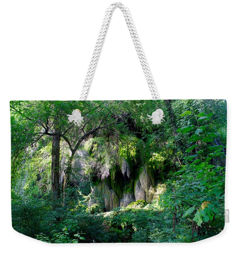 James Smullins Weekender Tote Bag featuring the photograph Gormon Falls Colorado Bend State Park. by James Smullins
