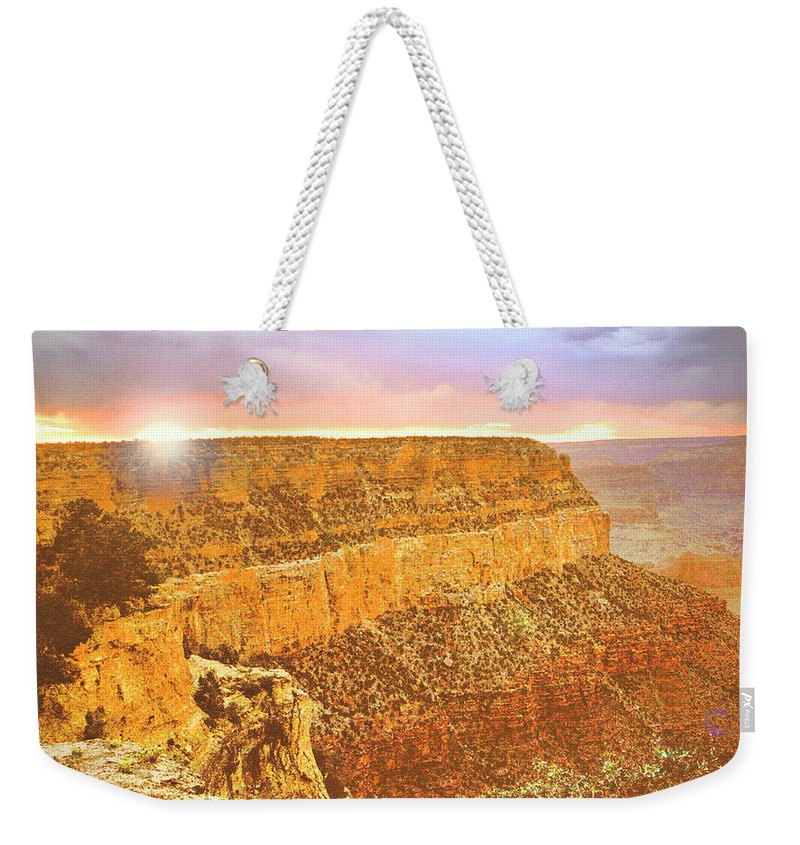 Grand Canyon Weekender Tote Bag featuring the photograph Grand Canyon Sunset by A Gurmankin