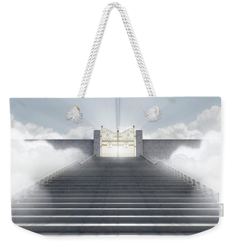Heaven Weekender Tote Bag featuring the digital art Heavens Gates by Allan Swart