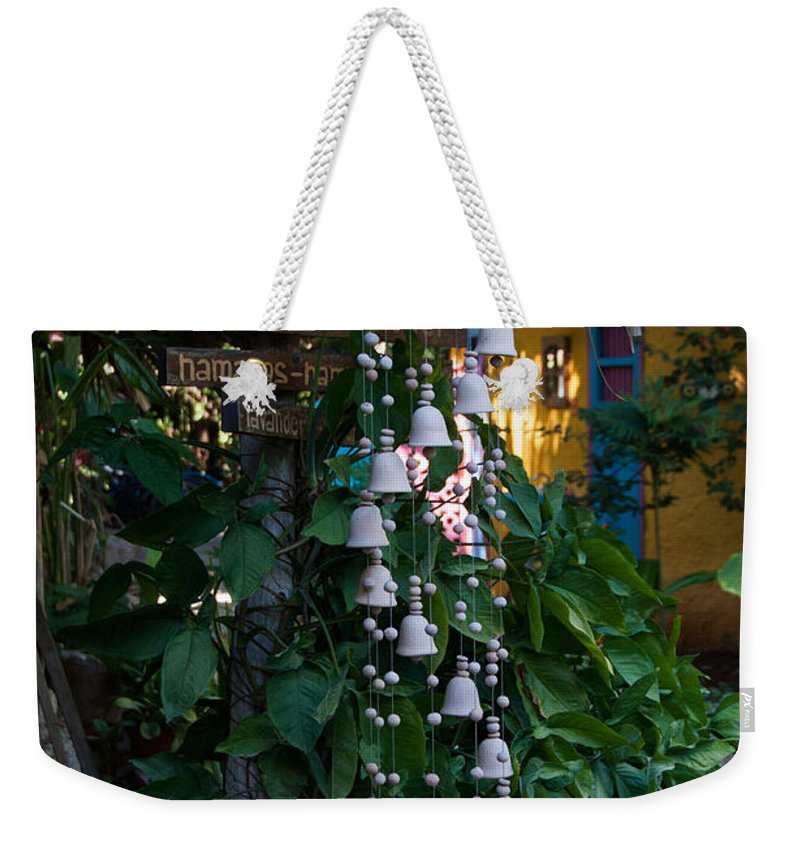 Mexico Yucatan Weekender Tote Bag featuring the digital art Hostal Candelaria by Carol Ailles