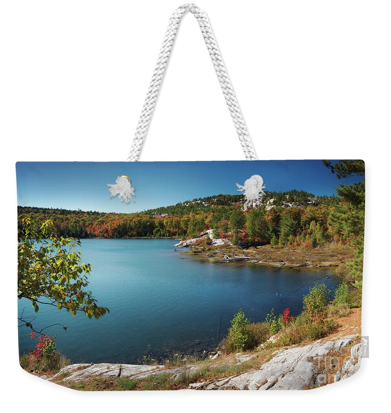 Lake Weekender Tote Bag featuring the photograph Killarney Provincial Park In Fall by Oleksiy Maksymenko