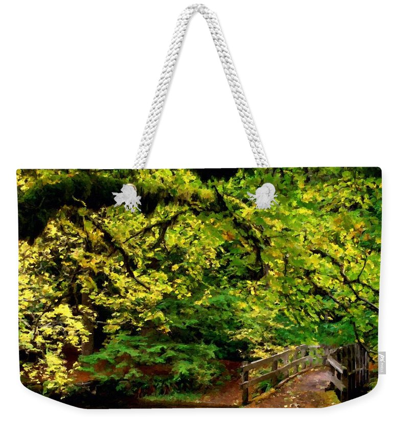 C Weekender Tote Bag featuring the digital art Landscape Acrylic Painting by Usa Map