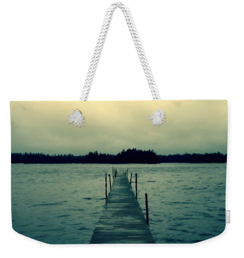 Scenery Weekender Tote Bag featuring the digital art Landscape Art Prints by Usa Map