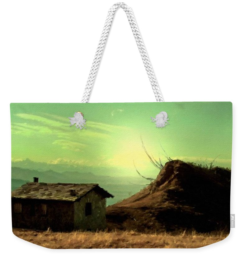 Landscape Weekender Tote Bag featuring the digital art Landscape Forms by Usa Map