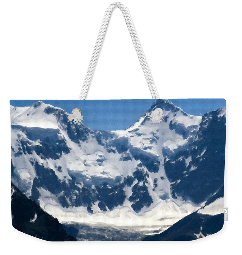 Country Weekender Tote Bag featuring the digital art Landscape Painting Oil by Usa Map