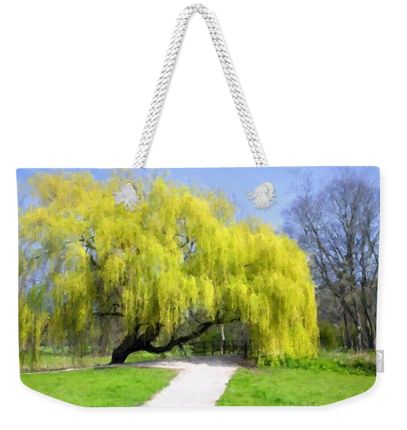 Landscape Weekender Tote Bag featuring the digital art Landscape Show by Usa Map
