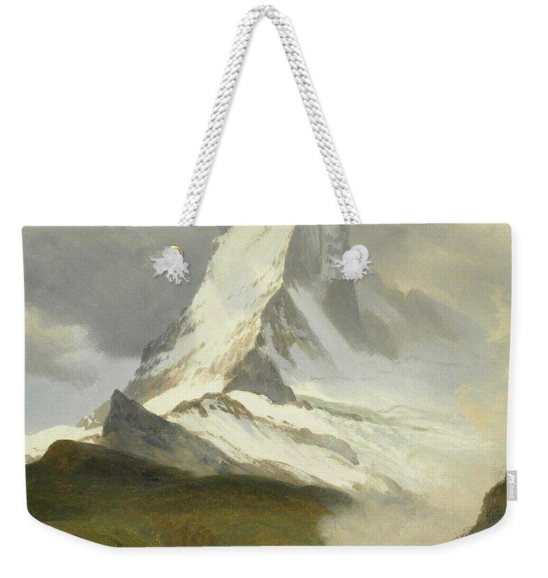 American Art Weekender Tote Bag featuring the painting Matterhorn by Albert Bierstadt